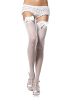 Leg Avenue lace stockings satin bow