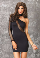 Leg Avenue asymmetric sleeve Dress