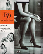 Doré Doré stockings Matité 20