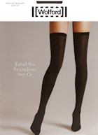 Wolford bas jarretiere Fatal 80 Seamless